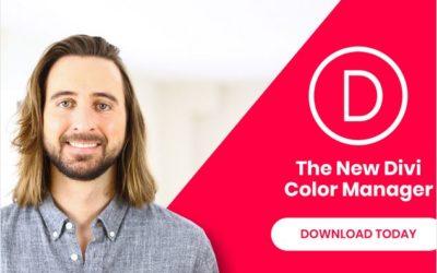 La nouvelle interface de Gestion des couleurs de Divi